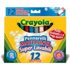 12 Pennarelli Maxi Punta Lavabili (8329)