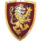 Scudo cavaliere rosso/oro (11350LT)
