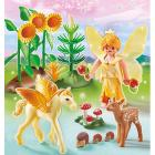 Principessa della foresta con cavallo alato (5353)