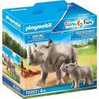 Rinoceronte Con Cucciolo (70357)