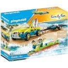 Auto da spiaggia con rimorchio per canoa (70436)