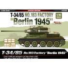 Carro Armato T-34/85 NO.183 FACTORY BERLIN 1945 1/35 (AC13295)