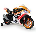 Moto Repsol 12V Arancione con Luci e Suoni e Elastici sulle Ruote