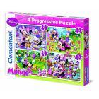 Puzzle 12+20+24+35 Pezzi Minnie (21501)