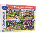 Puzzle 12+20+24+35 Pezzi Mickey (21502)