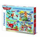 12+20+24+35 pezzi - Planes Progressive Puzzle (21505)