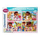 Dottoressa Peluche 12+20+24+35 pezzi - Progressive Puzzle (21506)
