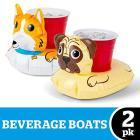 Dogs Pack Beverage Boat 2 Pz (Porta Bicchiere Gonfiabile)