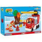 Camion Pompieri costruzioni Unico Plus 43 pezzi
