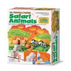Animali Del Safari In 3D: Modella e Colora (04555)