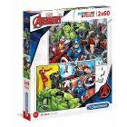 The Avengers 2 x 60 pezzi (21605)