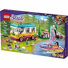Camper Van nella foresta e barca a vela - Lego Friends (41681)