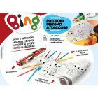 Rotolo da disegno Attaccoso Bing con 6 colori