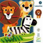 Lassanimo animali in legno con lacci (DJ01683)