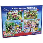 Puzzle Mickey Mouse Club House, 20 + 60 + 100 + 180 Pezzi (07704)