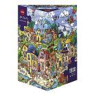 Puzzle 1500 Pezzi Triangolare - Paese Allegro