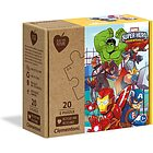 Marvel Super Hero-2x20 pezzi-materiali 100% riciclati Play For Future (24775)
