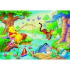Puzzle 60 pezzi Winnie the Pooh a pesca