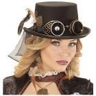Cappello cilindro steampunk con occhiali edeco meccanismo