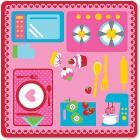Cucina tappeto gioco 100 x 100 cm (12812)