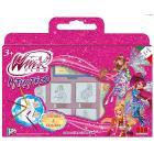 Valigetta 7 timbri gioco + pennarelli colorati e album disegno Winx Club