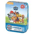 Puzzle lenticolare 24 pezzi Paw Patrol confezione mini in latta (98222)