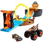 Monster Trucks Arena delle Acrobazie con Lanciatore Doppio con 2 Veicoli