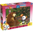 Masha e Orso in The Wood Puzzle Doppia Faccia Plus, 60 Pezzi