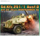 Veicolo semicingolato SD.KFZ.251 D WITH 28/32 CM 1/35 (DR6861)
