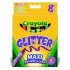 8 Pastelli a Cera Glitter (0875)