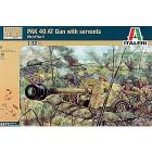 WWII Cannone Pak40con oldati tedeschi