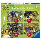 Puzzle Vita da giungla 4 in a Box (06885)