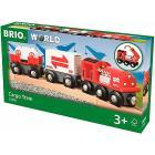 Brio treno merci rosso (33888)