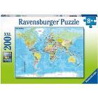 Puzzle 100 pezzi Mappa Del Mondo (12890)