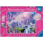 Puzzle 100 pezzi Regno Unicorno Glitter (12907)