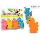 Prima Infanzia Gogo - Gommosi Unicorni In Vinile Colorati 4 Pz