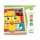 Tournifarm puzzle blocchi legno (DJ01954)