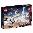 Il jet Stark e l'attacco del drone. Spider-Man Far from Home - Lego Super Heroes (76130)