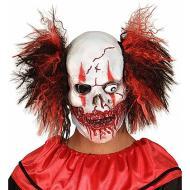 Maschera teschio clown insanguinato