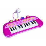 Tastiera Elettronica a 24 Tasti Con Microfono rosa