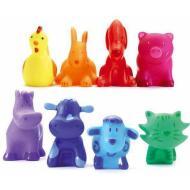 8 rainbow animals