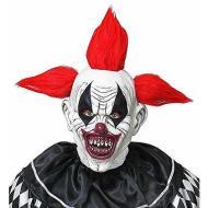 Maschera clown horror con capelli