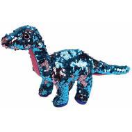 Peluche dinosauro glitter paillettes 23 cm