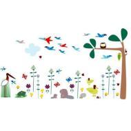 Gufo e farfalle - adesivi