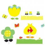 Fiori gialli - adesivi