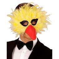 Maschera in Piume Uccello Giallo