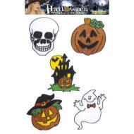 5 Vetrofanie Halloween Adesivi