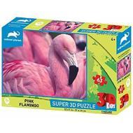 Puzzle 3D Animal Planet: Fenicottero 63 pezzi