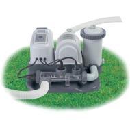 Clorinatore Combo Con Pompa Filtro - Ecosterilizzatore Salino per piscine fino a 26,5 m3 - Flusso d'acqua: 3.974 L/H (28672)