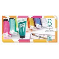 8 tubetti di colore glitter gel (DJ08798)